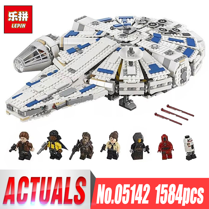 DHL LEPIN 05142 Star Building Blocks Force Toy Awakens Millennium Kids Toys Falcon Model Legoings 75212 Birthday Christmas Gifts 3 pcs set vintage handbags women messenger bags female purse solid shoulder bags office lady casual tote new top handle bag