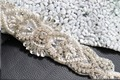 TOPQUEEN S208A Free shipping Stock DIY Formal Wedding Diamonds Beaded Applique Evening Dresses Trimming