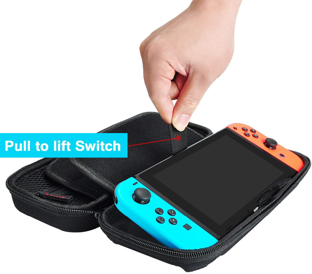 Купить с кэшбэком Storage Bag for Nintend Switch Nintendo bag Switch Durable Shell Case Pouch handbag for NS NintendoSwitch Console Accessories