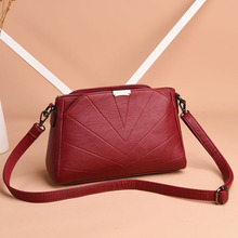 2018 designer flap bag women luxury brand soft leather solid red female shoulder crossbody bags ladies hand bags bolsos mujer flower princess brand girls canvas small shoulder bags for women ladies fashion flap bag woman crossbody bags bolsos mujer sac