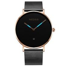 Luxury NEDSS Mens watches top brand couple watch swiss quartz movemnt steel case sapphire glass 50M waterproof DW style watch