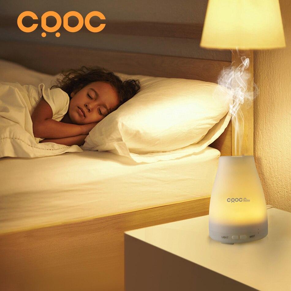 CRDC 100 ML LED Işık 7 Renk Değişimi Kuru Korumak Ultrasonik Esansiyel Yağı Aroma Difüzör Hava Nemlendirici Sis Makinesi Ev & ofis
