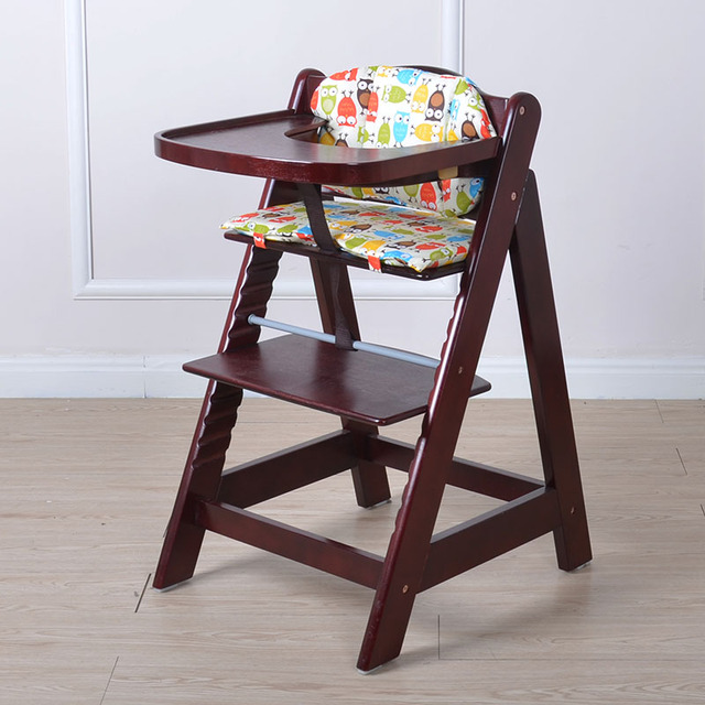 Multifunctional baby child solid wood dining chair baby dining chair solid wood baby chair with snacky tray