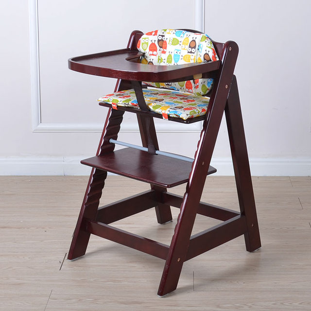 Superbe Multifunctional Baby Child Solid Wood Dining Chair Baby Dining Chair Solid  Wood Baby Chair With Tray Baby High Chair