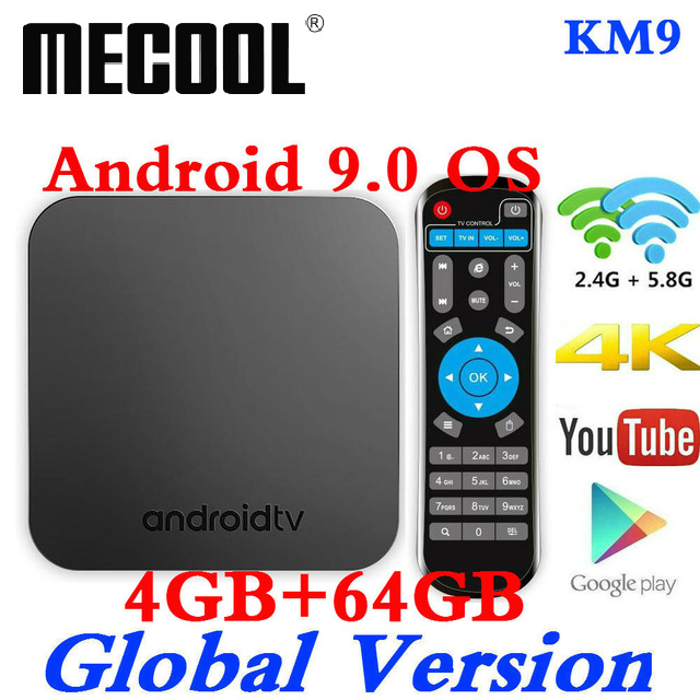 MECOOL KM9 Android 9 TV Box Amlogic S905X2 DDR4 4GB RAM 64GB ROM USB 3 0