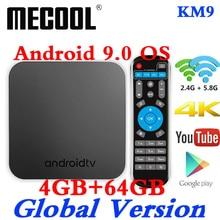 MECOOL KM9 Android 9 ТВ Box Amlogic S905X2 DDR4 4 Гб Оперативная память 64 Гб Встроенная память USB 3,0 4 K HDR 2,4G/5G, Wi-Fi, BT4.1 Декодер каналов кабельного телевидения умные ТВ коробка
