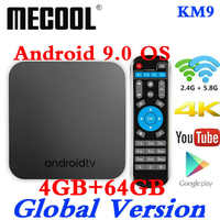MECOOL KM9 Android 9 TV Box Amlogic S905X2 DDR4 4GB RAM 64GB ROM USB 3.0 4K HDR 2.4G/5G Wifi BT4.1 Set top Smart TV Box
