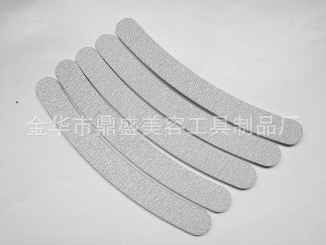 10 x Professional Grey Double Sides Nail Files Buffer Slim Banana Grit 180/180 Sandpaper Women Nail Care Tools N480F12121252565