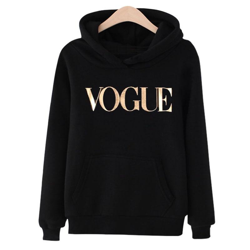2020 New VOGUE Women Printed Pullover Sweatshirt Long Sleeve Pullover Hoodies Tops Autumn Winter Femme Loose Pullover Hoodies