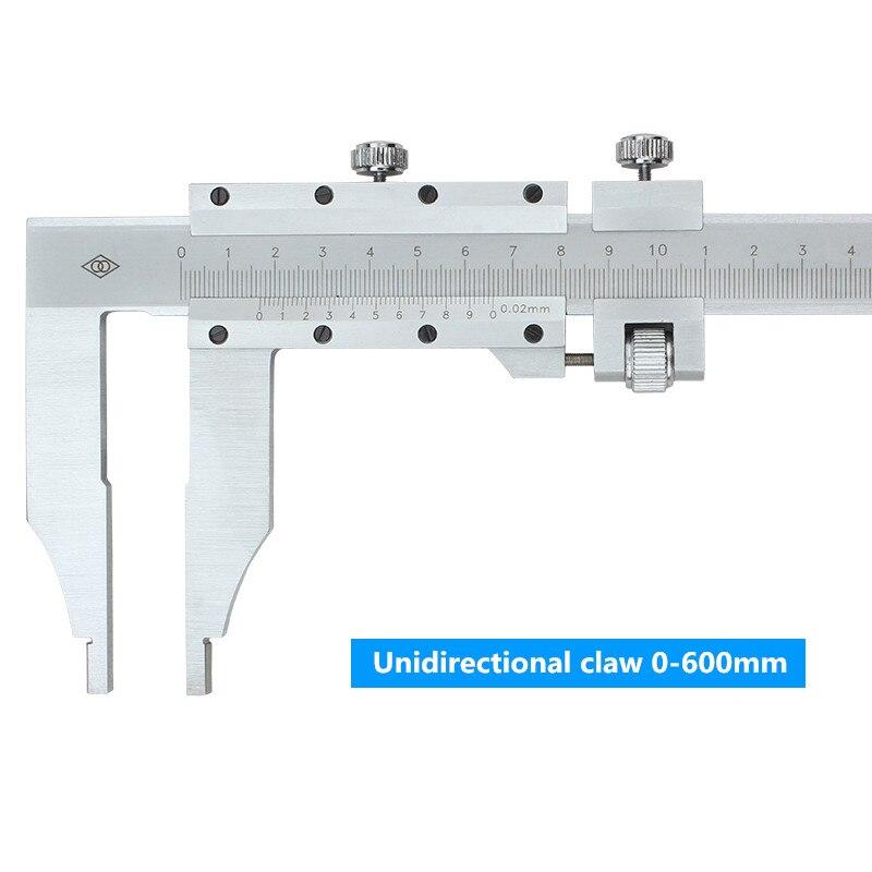 Pince unidirectionnelle 0-1000mm curseur étrier carte de marquage d'huile échelle en acier inoxydable pied à coulisse - 3