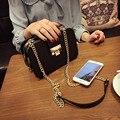 Miwind 2017 moda bolsa de ombro bolsa saco do mensageiro do vintage das mulheres populares saco pequeno cadeia saco do telefone móvel cor preta