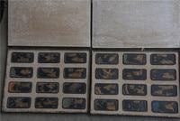Seltene Alte Chinesische Tinte barren  24 ge xizo zi de gu shi  24 teile/paket  mit mark  beste sammlung und Dekoration  freies verschiffen