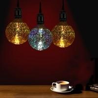 G125 Retro Edison Bulb 3D Fireworks Ball LED Lamp Light E27 4W Filament LED Light Bulb