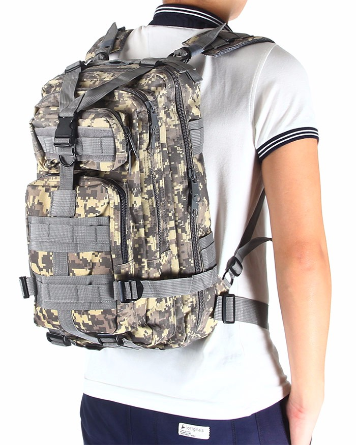 2017 3P Outdoor Military Tactical Backpack 30L Molle Bag Army Sport Travel Rucksack Camping Hiking Trekking Camouflage Bag 2
