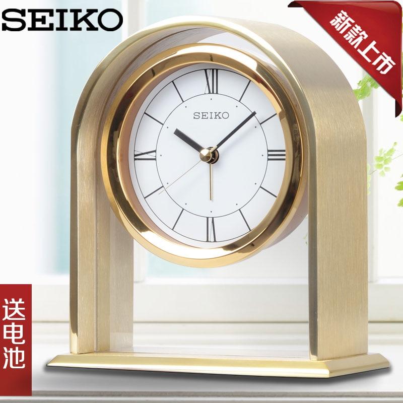 Online Shop SEIKO Seiko Personality Living Room Bedroom Office Fashion  Modern Aluminum Metal Alarm Clock Table Clock | Aliexpress Mobile
