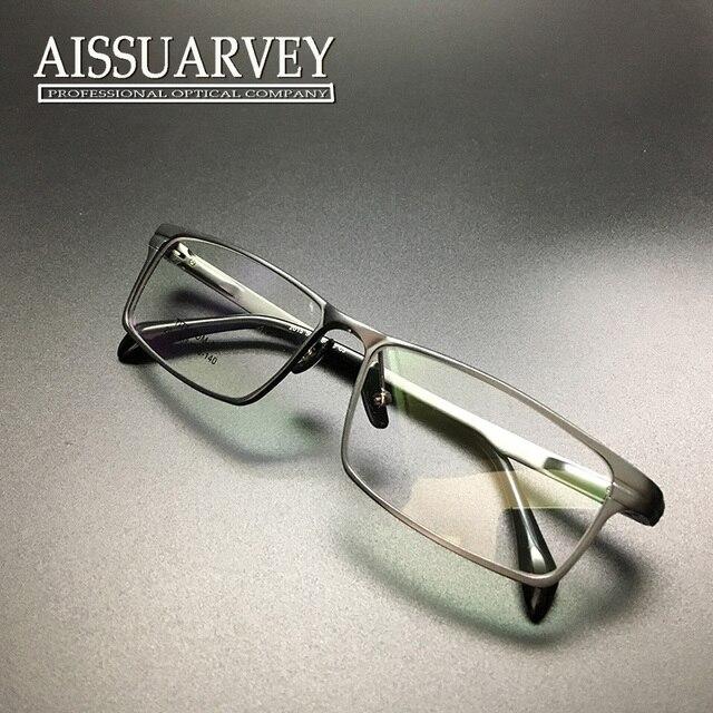Очки мужчины очки кадр полный обод мода марка бизнес легкий оптический рецепт titanium алюминиевый красивый мальчик площадь