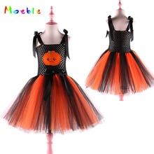 Halloween Pumpkin Girls Tutu Dress Kids Tulle festival gift Dresses for Children Princess Party Cosplay Costume