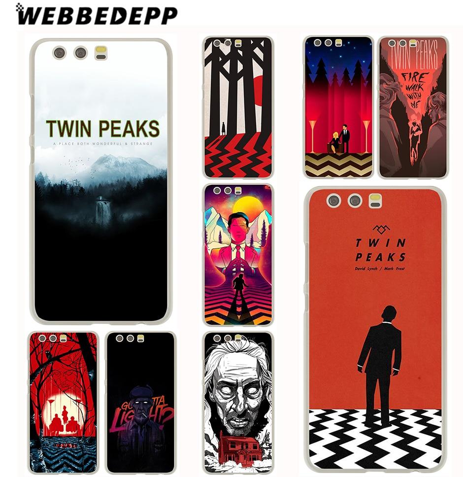 WEBBEDEPP Twin Peaks Case for Huawei P20 P10 P9 P8 P7 G7 P6 P smart Lite Plus Pro & Nova 2 Plus 2s 2i 2 Lite