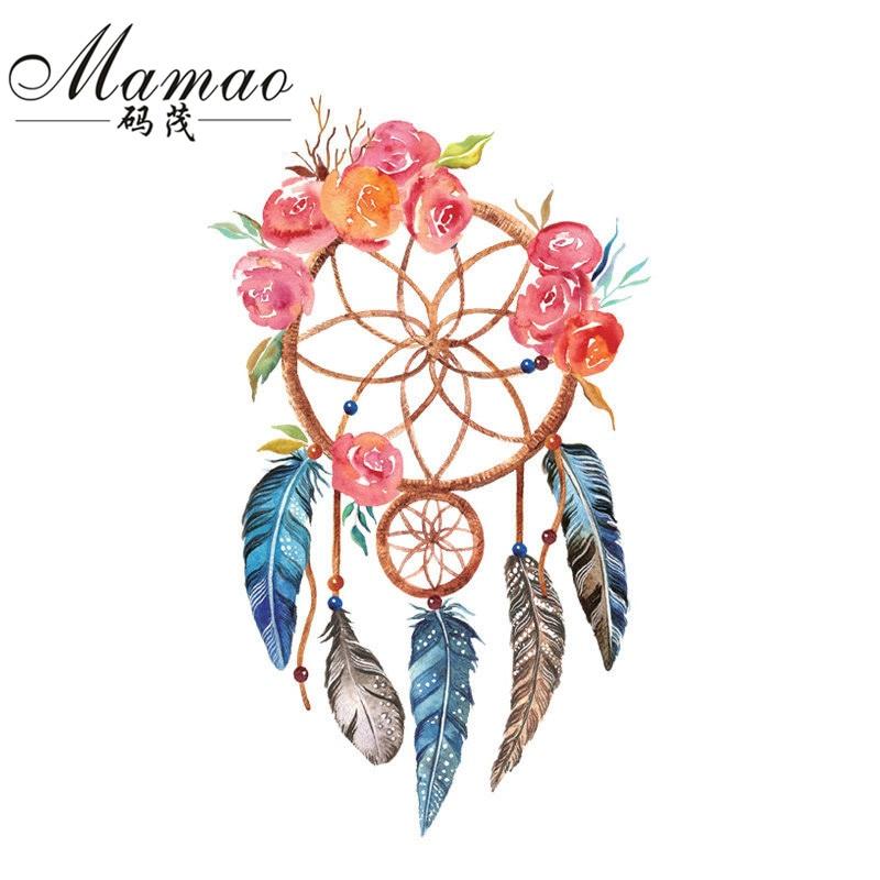 MAMAO Dreamcatcher Patch Iron On Transfer Flamingo Flower Letter - Konst, hantverk och sömnad - Foto 3