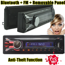 Caliente venta del coche de Radio bluetooth panel frontal desmontable Seperable panel frontal 1-Din estéreo FM USB / SD AUX reproductor de MP3 de Audio en el tablero