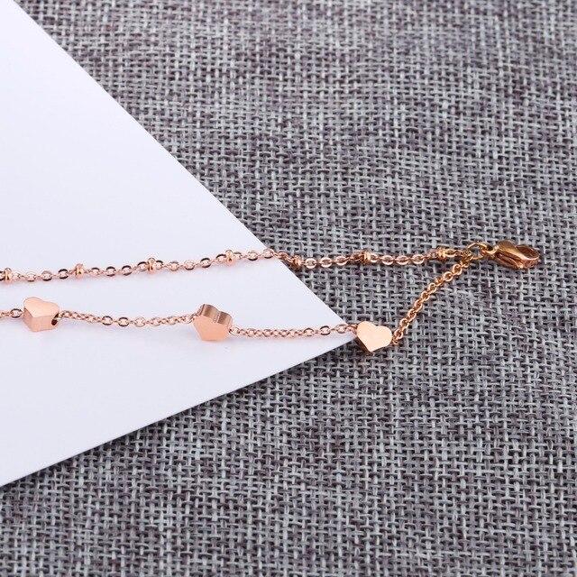Женский браслет из нержавеющей стали 316l цвета розового золота