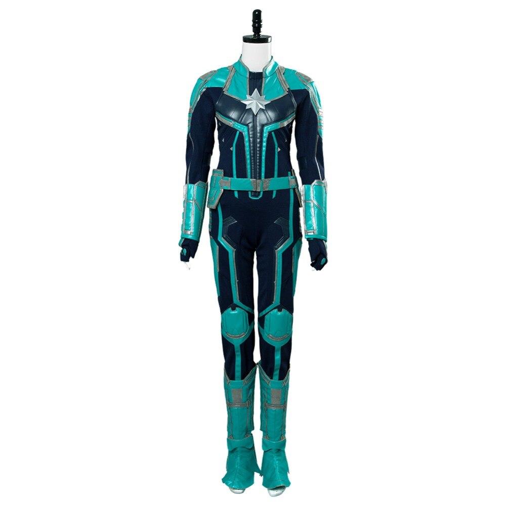 Capitão traje cosplay capitão carol danvers uniforme