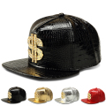 New Fashion PU Mens Hip Hop Baseball Caps Casual Unisex Outdoor Hats USD Dollars Gold/Silver/Red/Black Snapback