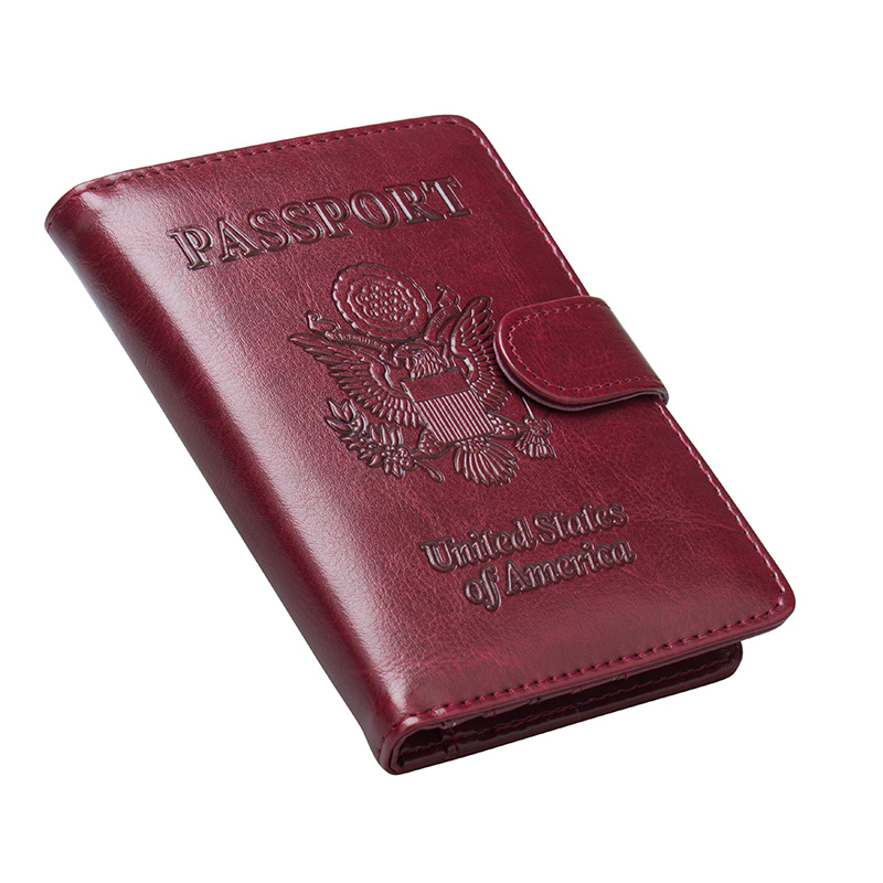 Back To Search Resultsluggage & Bags Coin Purses & Holders Cheap Price Russian Oil Gray Double-headed Eagle Convenient Pu Leather Passport Holder Built In Rfid Blocking Protect Personal Information