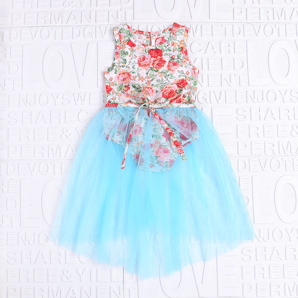 infant clothing baby girl summer bodysuits Print Rompers baby Jumpsuit tulle Dress first birthday outfit girl dress for newborns