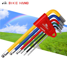 Bike Hand Tools MTB Road Bike Multi-function Bicycle Repair Tools Hex Key Ball End Set 2/2.5/3/4/5/6mm Allen Wrench Bike Tools bikehand bicycle repair tools kit bike torque wrench allen key tool socket set road mtb bike tools 1 4 torque fix set 2 24 nm