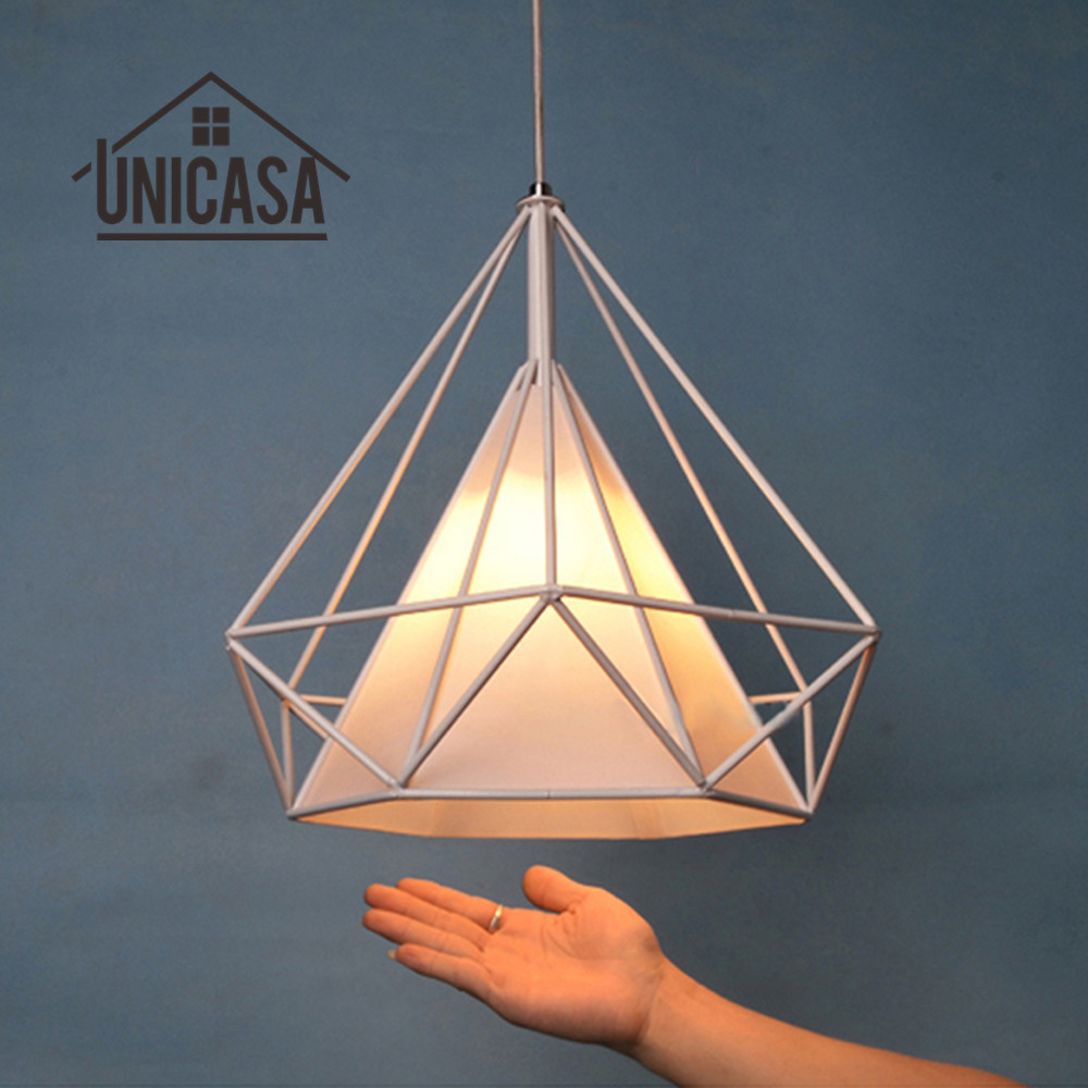 Kitchen island lighting halogen - White Shade Wrought Iron Lighting Fixtures Modern Pendant Lights Kitchen Island Hotel Bathroom Antique Mini Pendant Ceiling Lamp