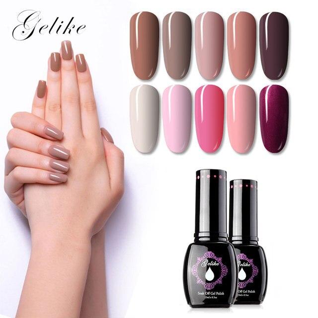 Gel de 15 ml Gel UV esmalte de uñas 64 colores de larga duración UV Led remojo de Gel falta LED UV UÑAS DE ARTE