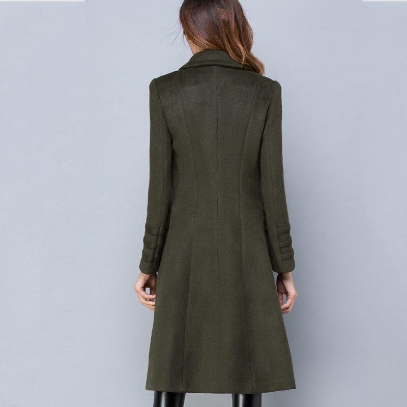Invierno de gran tamaño S-3XL de lana de las mujeres chaqueta de abrigo de Otoño de 2018 de moda de alta calidad largo chaqueta ropa femenina ll582 - 4