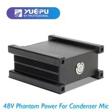 YUEPU RU-P58V 48 v XRL Alimentação Fantasma para Microfone Condensador Tomada Canon Inserir Uso Ao Vivo