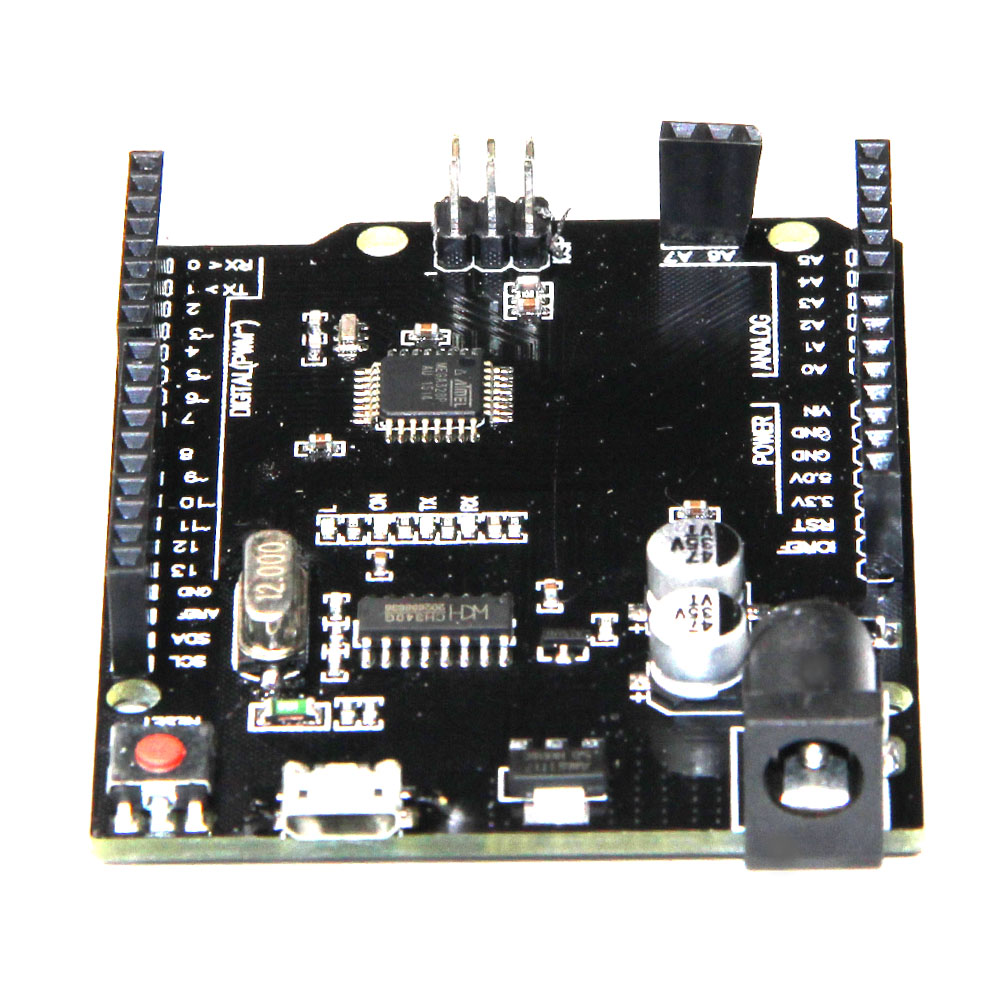US $3 28 |Neue 2016 UNO R3 ATmega328P, + A6 A7 pins, Micro USB Kompatibel  mit for Arduino UNO Rev 3,0-in AC/DC Adapters from Consumer Electronics on