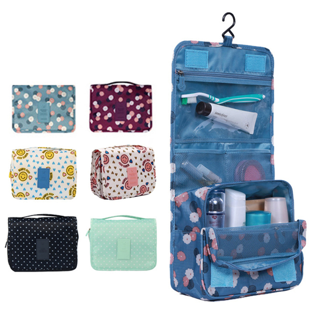 Portable Traveling Bathroom Hanging Toiletry Bag Kit Cosmetic Carry Travel Organizer Make Foldable Storage