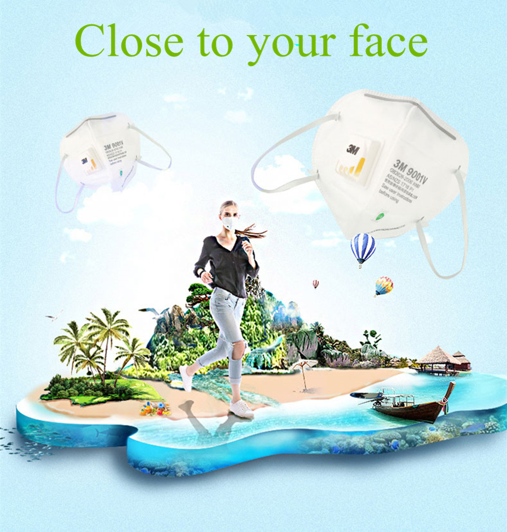 3 м 9001 в KN90 вентиляционные противопылевые маски против пыли PM2.5 Промышленные строительные пыльцы дымка газ семья и профессиональный сайт защиты инструмент