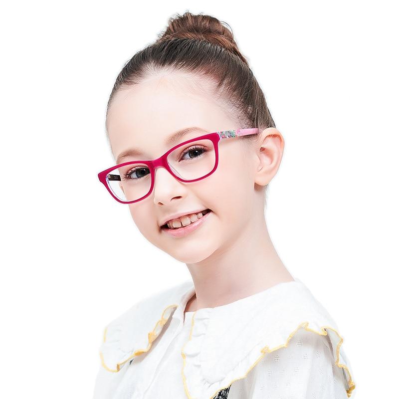 Girls Pink Acetate Eyewear Glasses Frame Kids Myopia Optical Eyeglasses Frames For Children Eyeglasses 6-10 Ages Kids Glasses