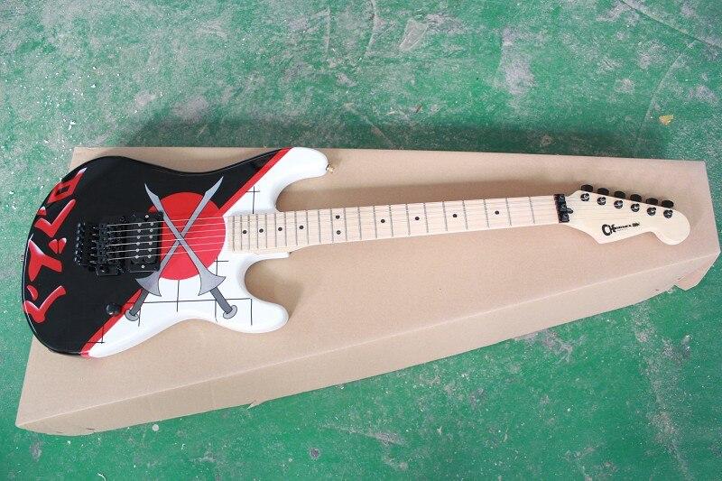 Charvel San Dimas 25th anniversaire épée motif Signature guitare électrique noir accessoires