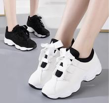 Women sneakers 2019 Fashion Platform Sneakers Ladies Brand Chunky Causal Shoes Woman Leather Sports Shoes  Vulcanized shoes