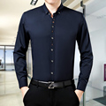 free shipping 2015 red,navy plus size loose fit soft cool men summer mens long sleeve silk shirts