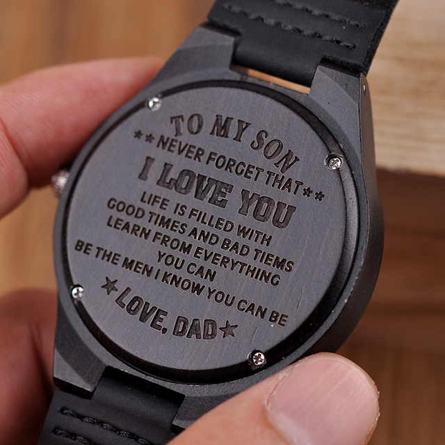 Engraved Wooden Watches Personalized Family Gift Anniversary Great Gifts Engraving Wristwatch Relogio Masculino 1