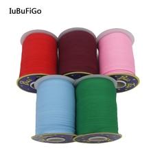 """Полиэстер/хлопок 5/""""(15 мм) Т/с косой ленты переплетения складные однотонные ленты для пошив одежды «сделай сам» и обрезки 80 ярдов/рулон"""