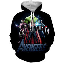 WSFK brand new products Avengers Iron Man Green Hulk Dead hoodie худи stranger things hoodies3D printing and dyeing creative tre