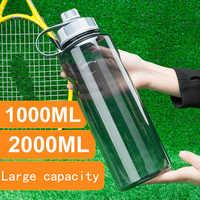 Large Capacity Outdoor Water Bottles Portable Plastic Sports Bottle With Tea Infuser Fitness Leak-proof My Shaker Bottle