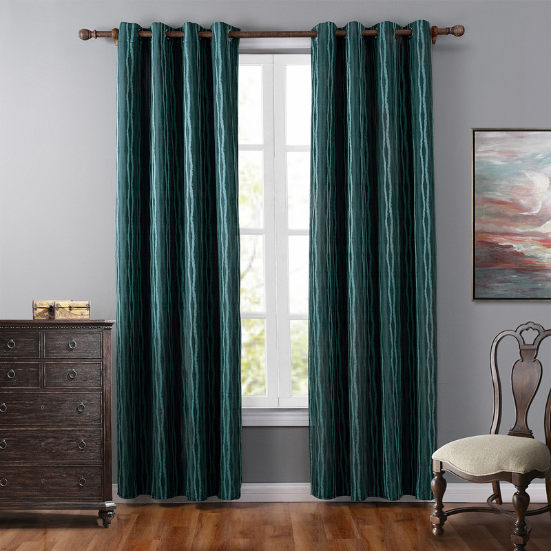 jacquard luxury curtains for living room blackout curtain for bedroom