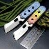 EFE Serge Mini Folding Knife S35VN Blade Key Chain Titanium Handle Camping Pocket Knives Tactical Portable