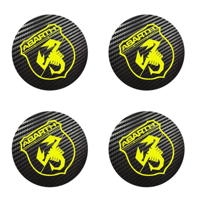 4 шт. для Fiat ABARTH бейдж с логотипом, колпачки для карбонового центра, колесо из сплава, стандартные размеры