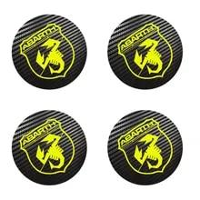 2 Aufkleber 3D PVC Badge 53 MM Lenkrad Logo Fiat Grande Punto 500 Bravo Abarth