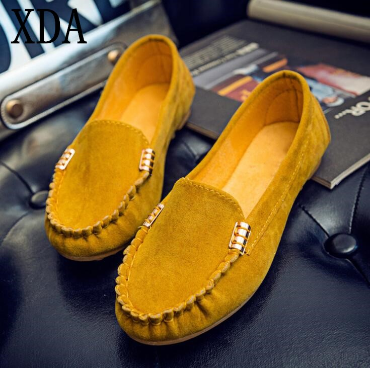 XDA Single shoes Spring Summer Women Flats Casual Shoes Women Comfortable Moccasins Shoes Flats Candy color Female Shoes F115 cresfimix zapatos women cute flat shoes lady spring and summer pu leather flats female casual soft comfortable slip on shoes